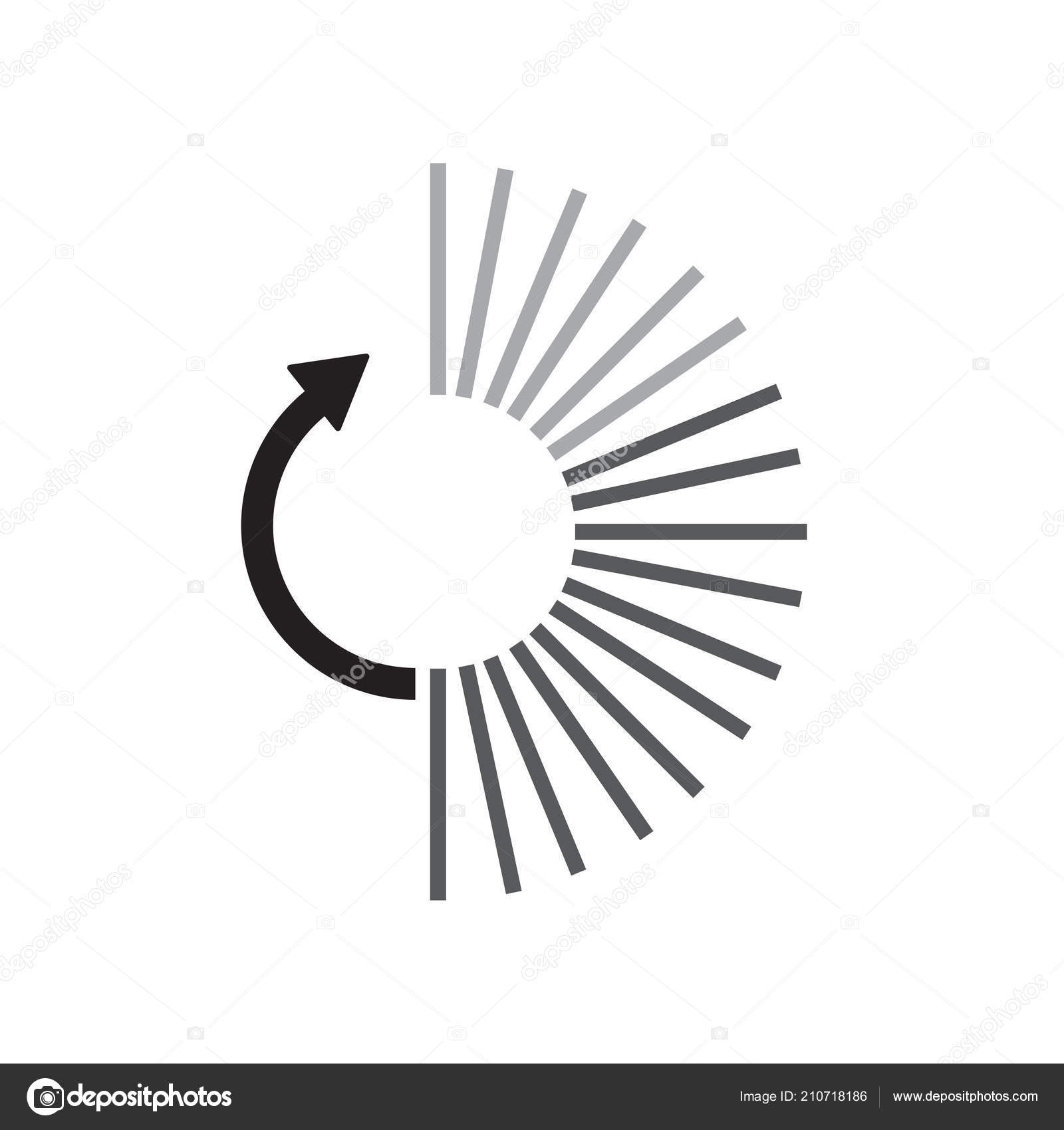Loading Icon Vector Sign And Symbol Isolated On White Background