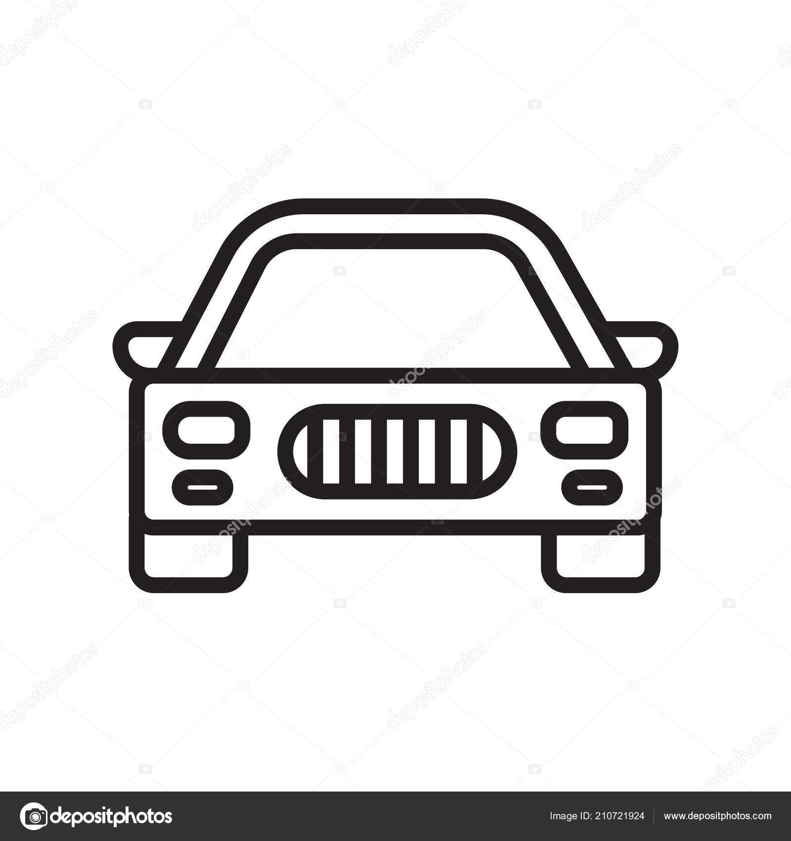 Auto Symbol Vektor Zeichen Und Symbol Isoliert Auf Weißem