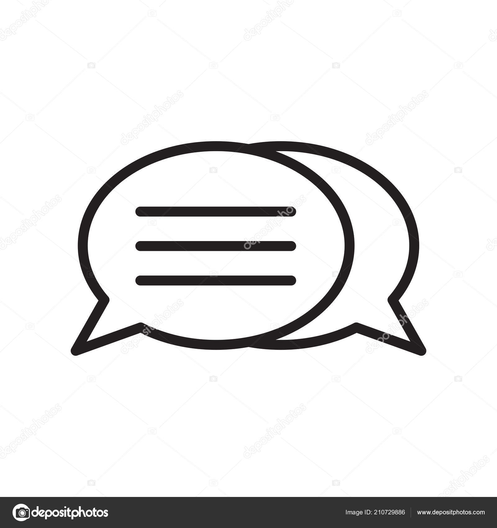 Speech Bubble Icon Vector Isolated White Background Your Web