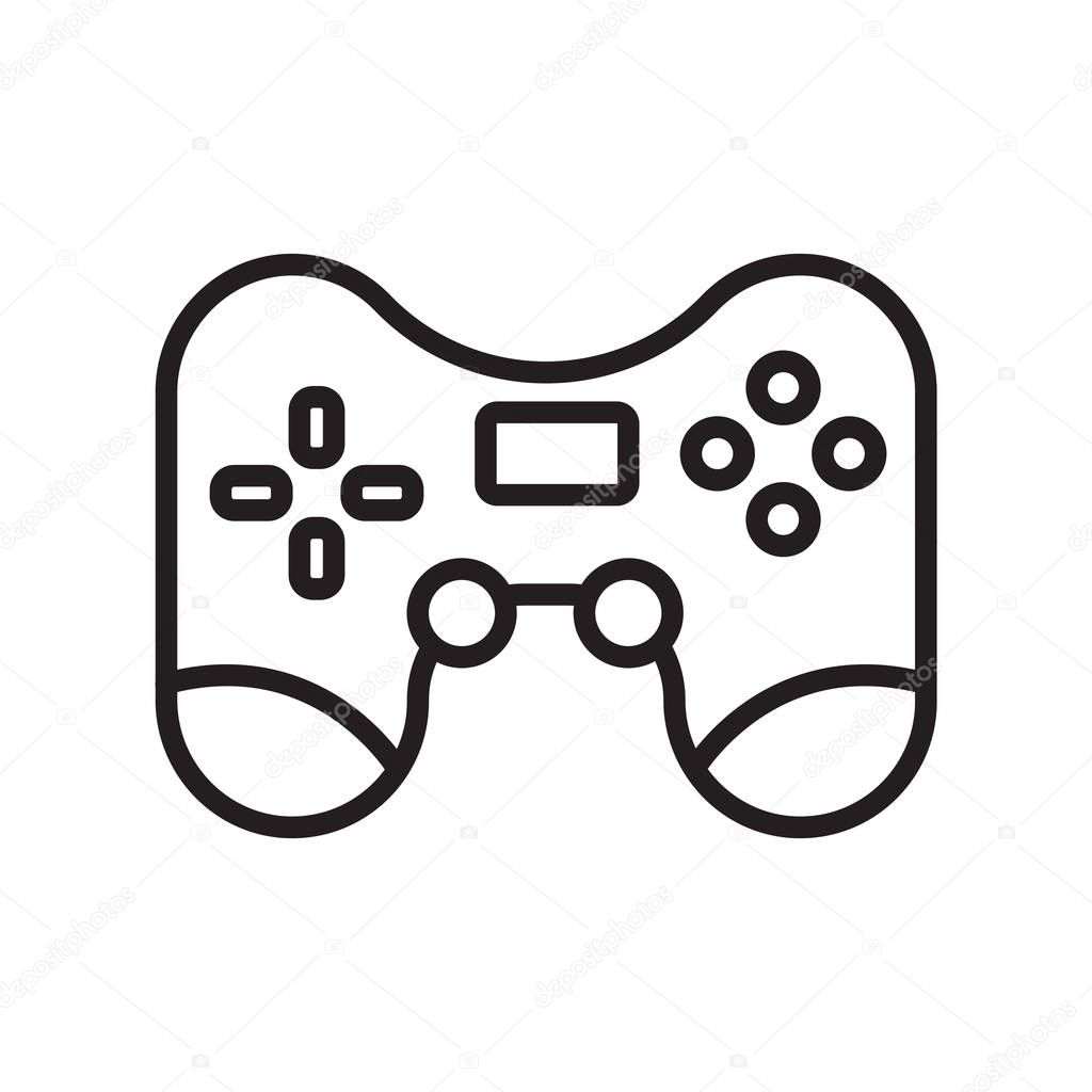 Game console icon vector isolated on white background for your web and mobile app design, Game console logo concept