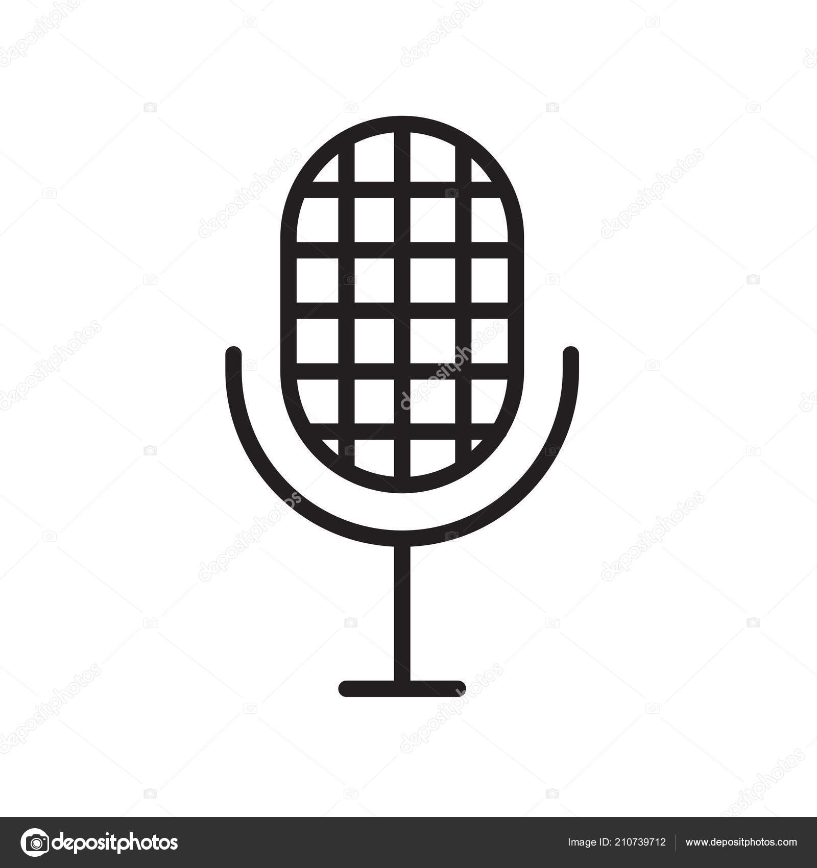 Microphone Icon Vector Sign And Symbol Isolated On White Background