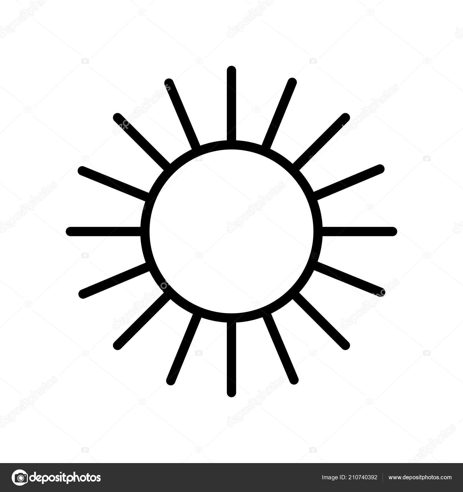 Sun icon vector sign and symbol isolated on white background