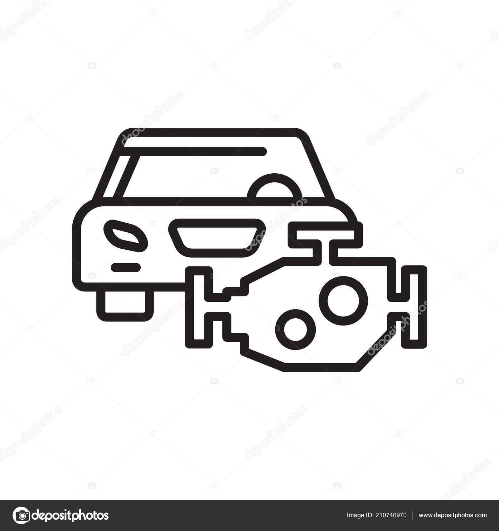 Auto Motor Symbol Vektor Zeichen Und Symbol Isoliert Auf Weißem