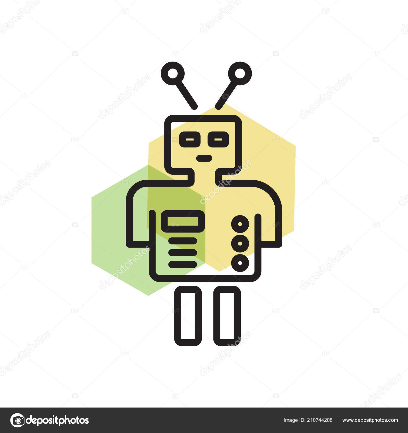 Robot Icon Vector Isolated White Background Your Web Mobile