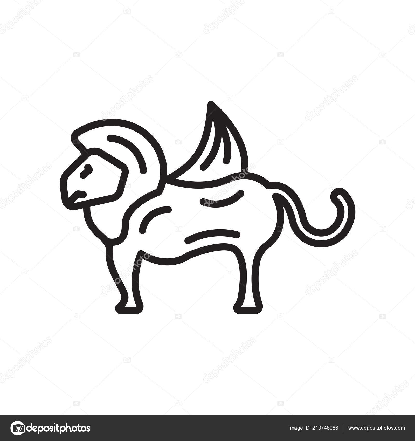 Chimera Icon Vector Isolated White Background Your Web