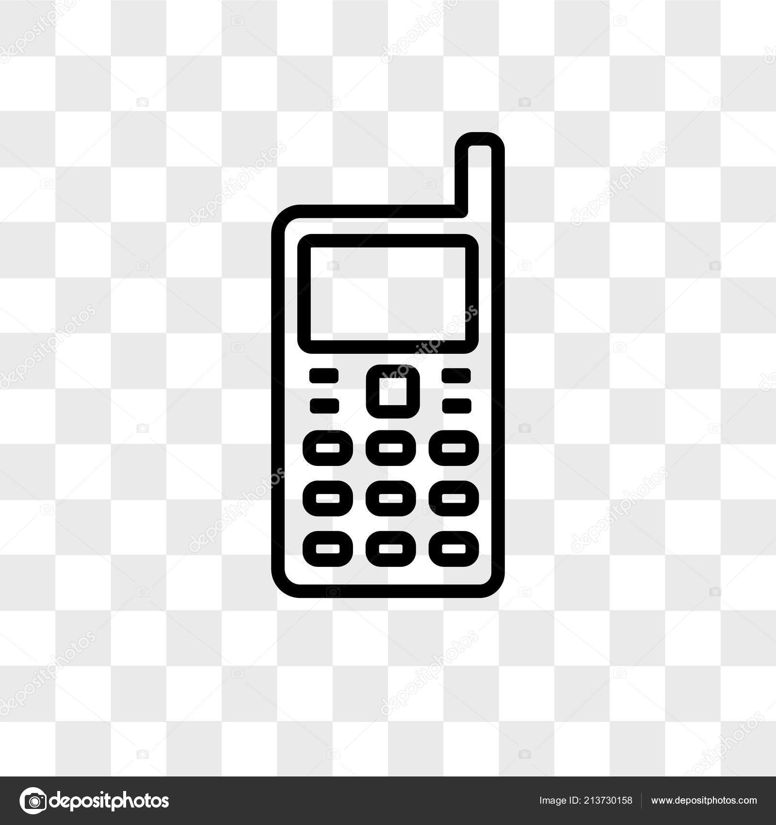 Handphone Vector Icon Isolated On Transparent Background Handph