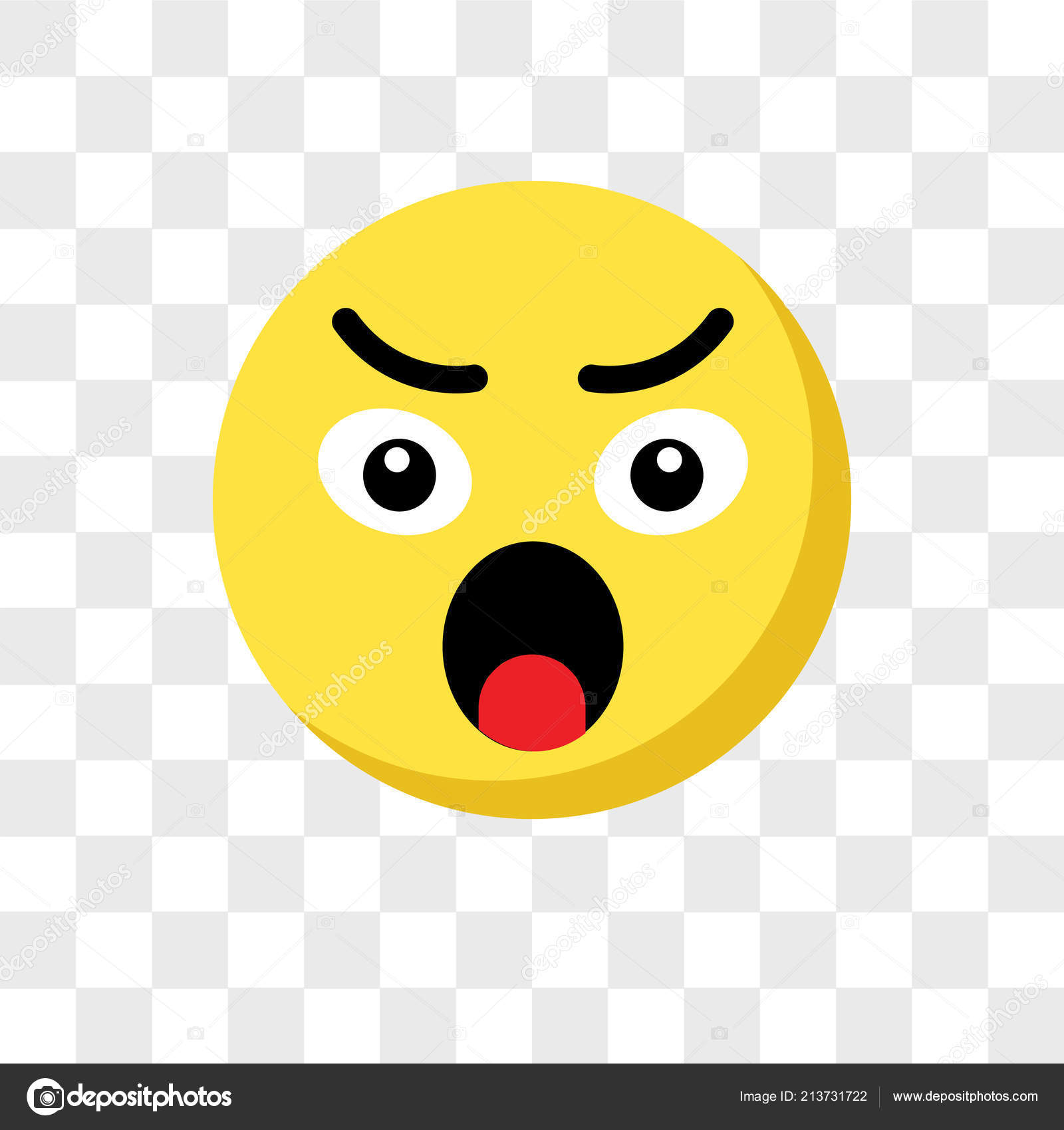 Angry Emoji Vector Icon Isolated On Transparent Background Angr