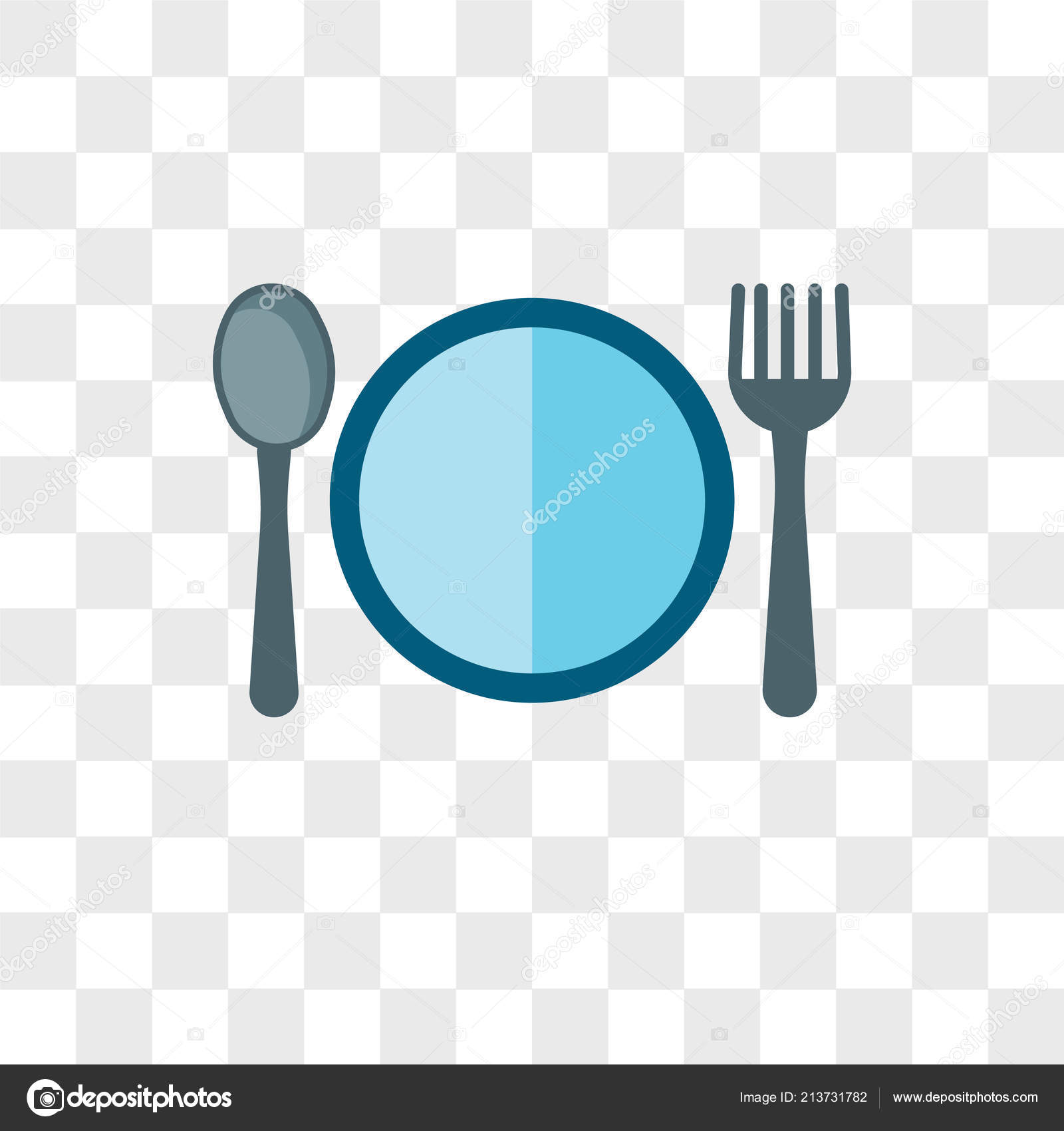 Food vector icon isolated on transparent background, Food