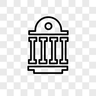 public sector vector icon isolated on transparent background, pu