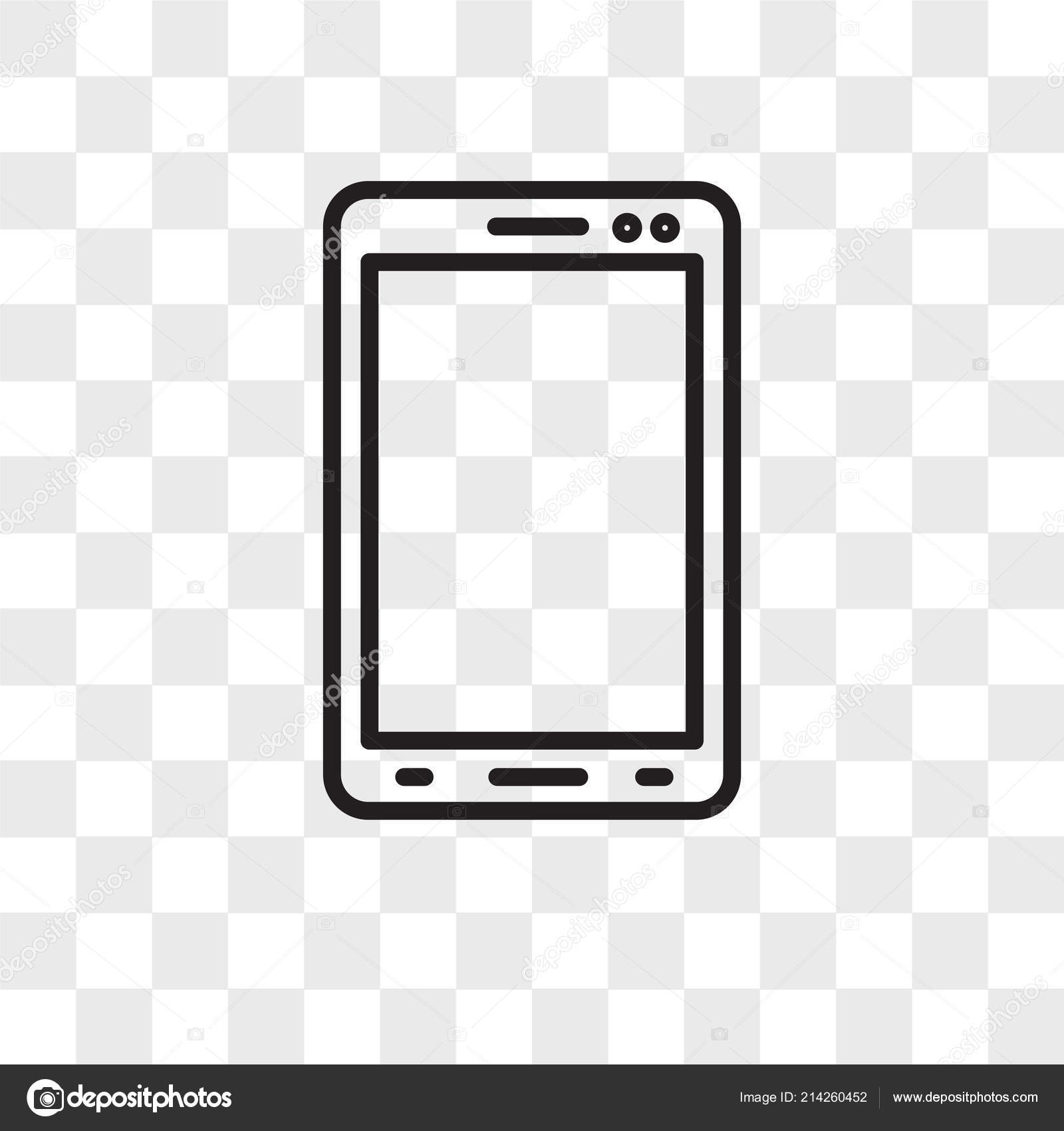 Smartphone Vector Icon Isolated On Transparent Background