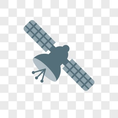 Satellite vector icon isolated on transparent background, Satell