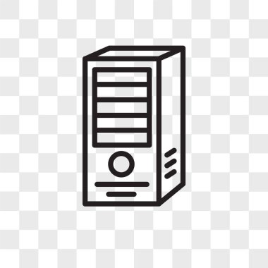 webserver vector icon isolated on transparent background, webser