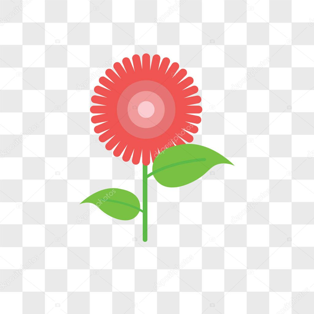 Flower vector icon isolated on transparent background, Flower lo