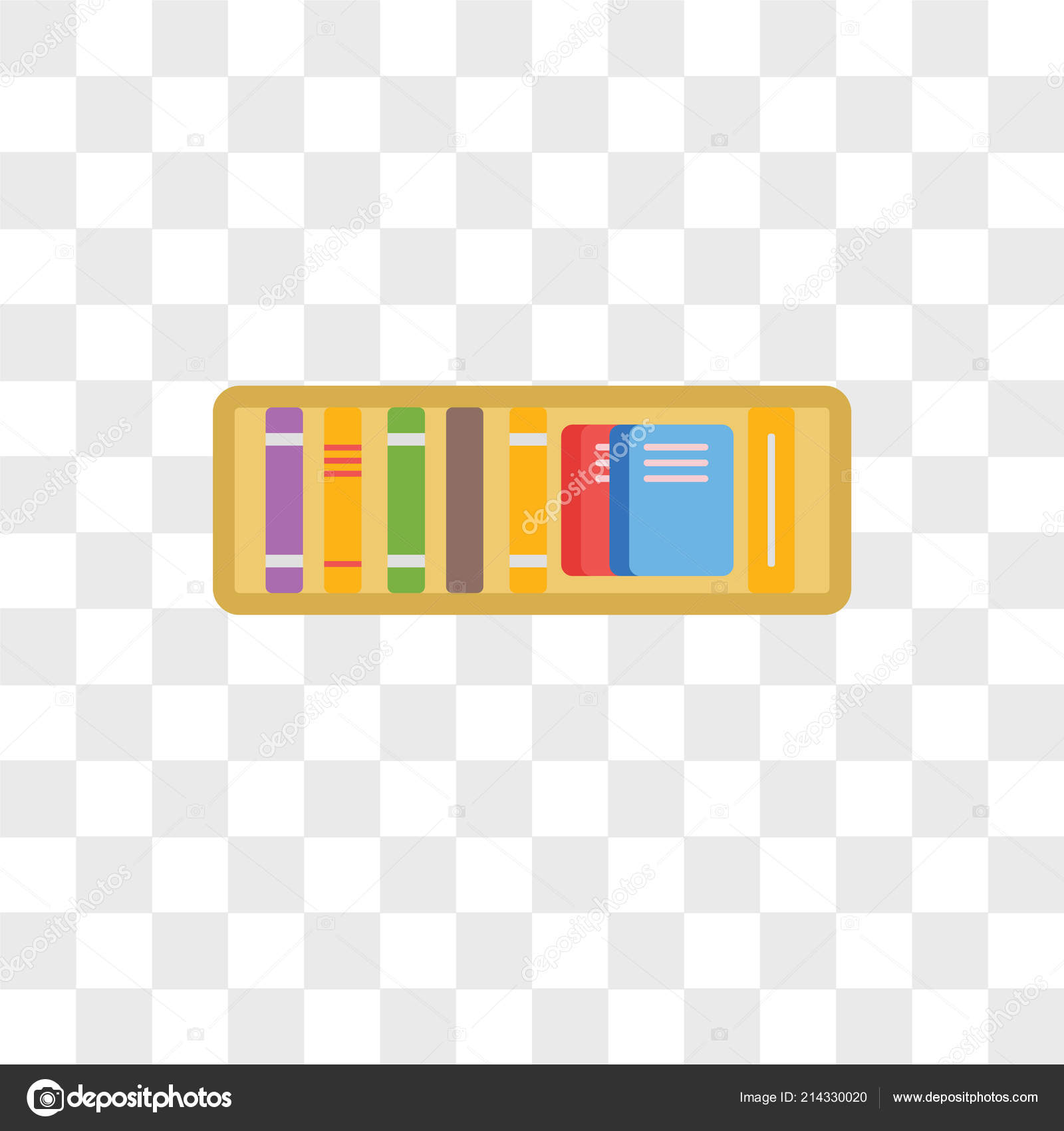 Bookshelf Vector Icon Isolated On Transparent Background Logo Concept By ProVectorStock