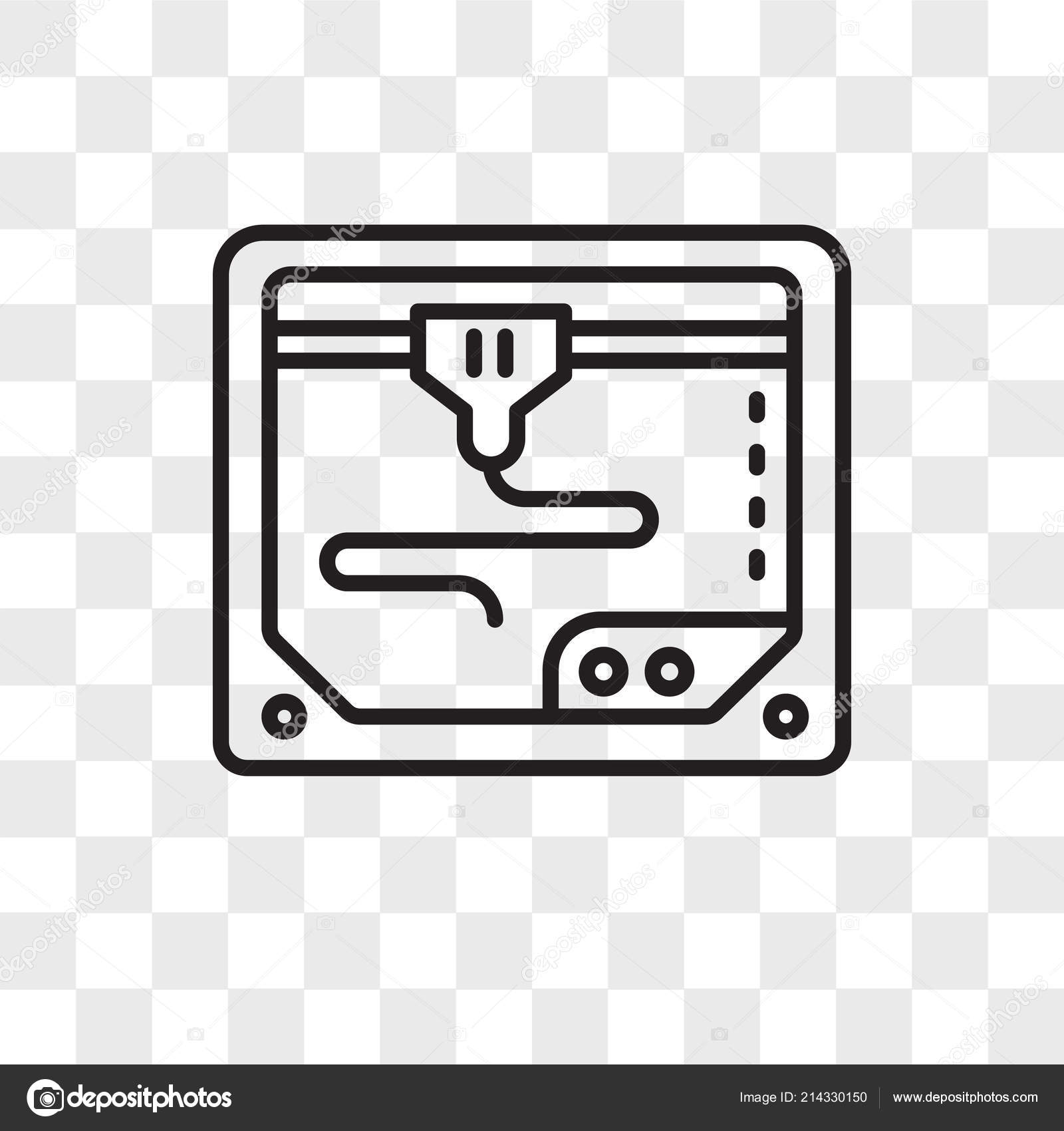 3d printer vector icon isolated on transparent background 3d printer logo design stock vector c provectorstock 214330150 https depositphotos com 214330150 stock illustration 3d printer vector icon isolated html