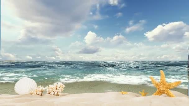 Plážové letní písečné pozadí