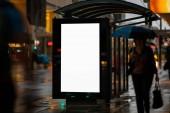 Přístřeší prázdné venkovní reklamy