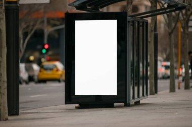Blank outdoor advertising shelter stock vector