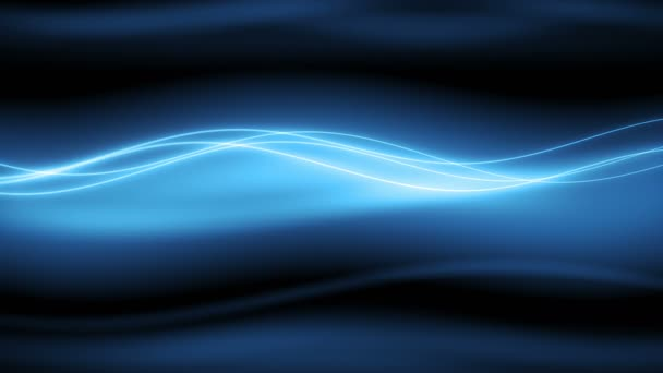 Nový Wyler / / 4 k stylové modré pomalé vlny smyčky Video na pozadí. Jemné vlnovkou se vyvíjejí za rozmazaná modrým pozadím. Tento loopable pohyb na pozadí ukazuje klidný a elegantní styl a je ideální volbou pro velmi širokou škálu aplikací.