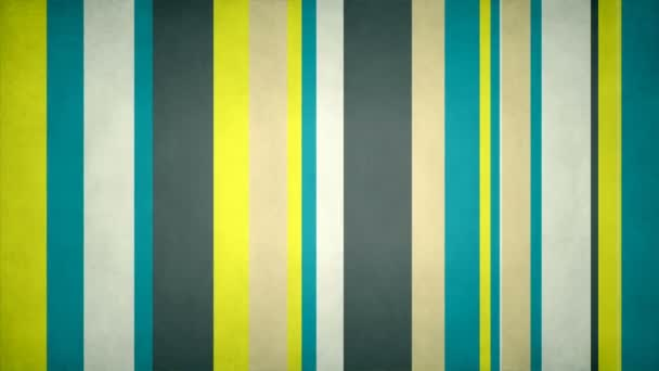 Paperlike Multicolor Stripes 25 // 4k Green Yellow Texture Video Background Loop. Colorful moving bars with a discreet grunge look. Number 25 in the series.