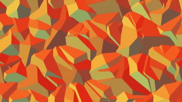 Fritzpatrick / / 4k kamufláž geometrický vzor smyčky Video na pozadí. Podmanivé pohyblivé textury s ostrými hranami a bohaté, teplé barvy
