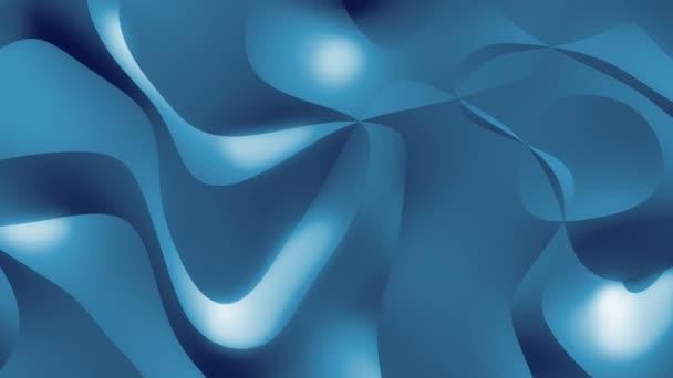 Marianbluehighcontrast / / 4k pohodě organických textur smyčky Video na pozadí. Elegantní pohyb pozadí ukazuje organický vzorek s protínajícími se čarami okraje. Modrá verze s vyšší kontrast obrazu
