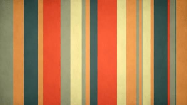 Paperlike barevné pruhy 36 / / 4 k Retro vzor Video pozadí smyčky. Barevné pohybující se tyčí s diskrétní plebs. Číslo 36 v sérii.