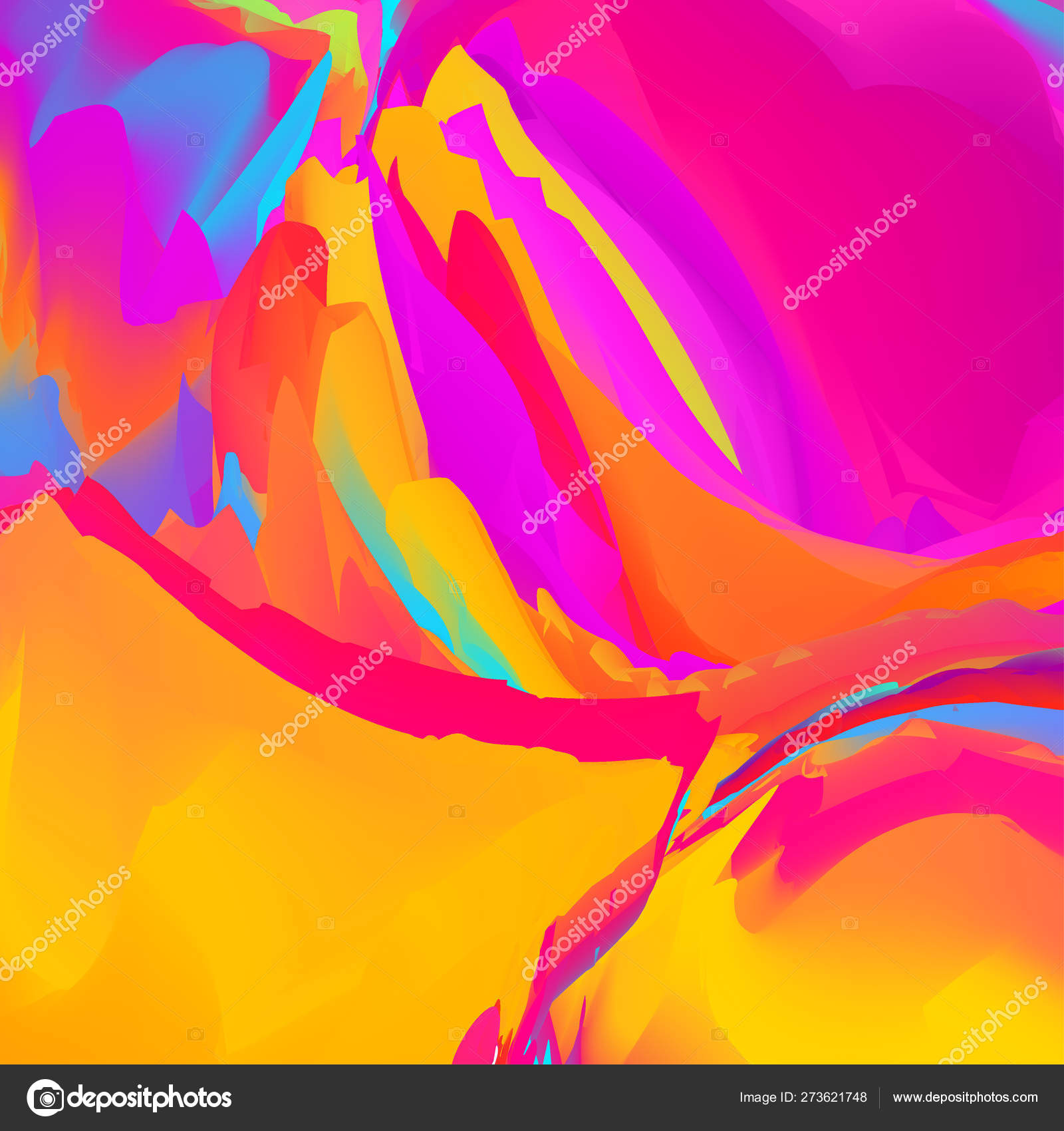 Vector glitch background. Abstract color background with trendy gradients.