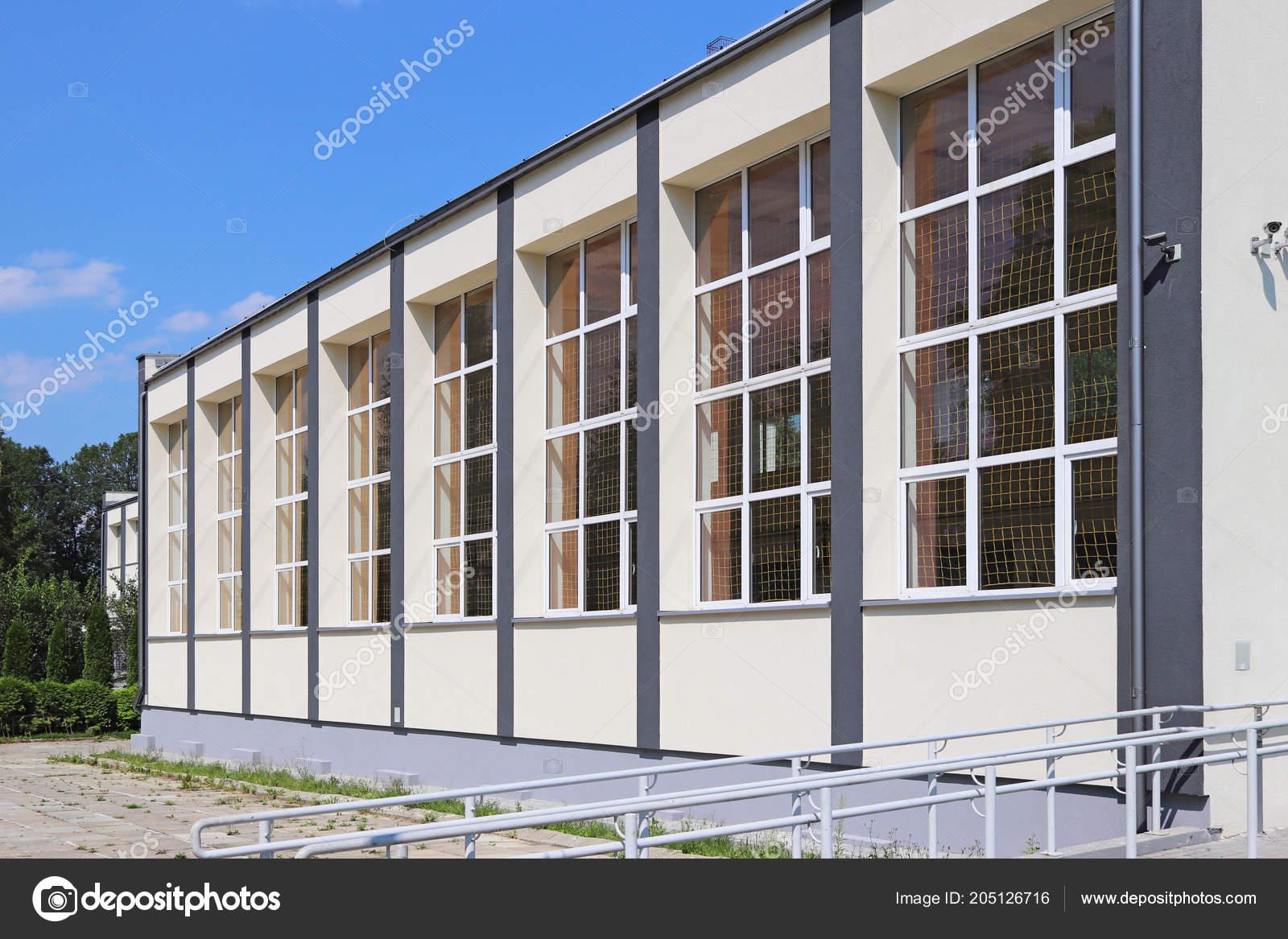 Lubno Pologne Juillet 2018 Salle Sport Moderne Ecole Village