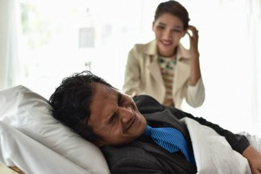 Care of life insurance when sick or injured in hospital. There is a payout and a checkout.
