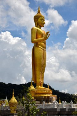 Thai temple and Buddha statue at daytime