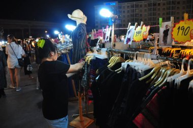 22 April, 2001 - Thailand: Clothes market in Thailand
