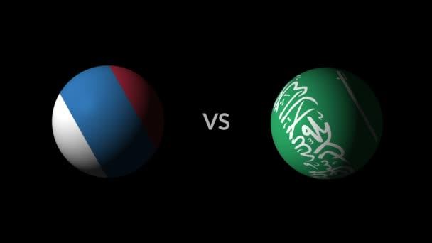 Soccer competition, national teams Russia vs Saudi Arabia