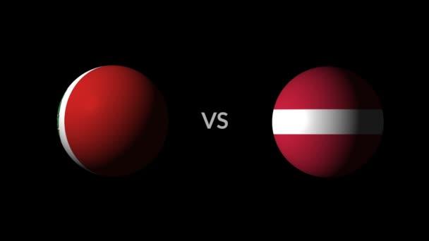 Soccer competition, national teams Peru vs Denmark