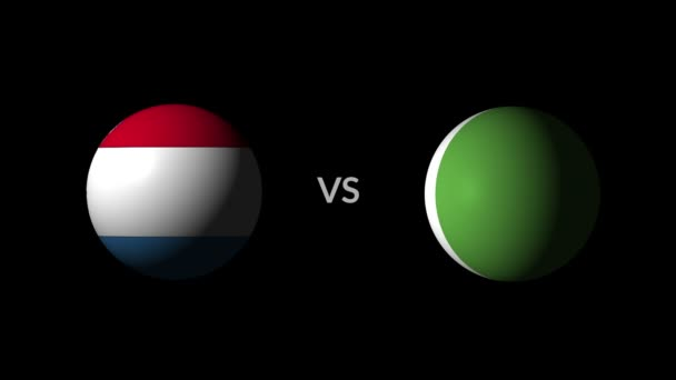 Soccer competition, national teams Croatia vs Nigeria
