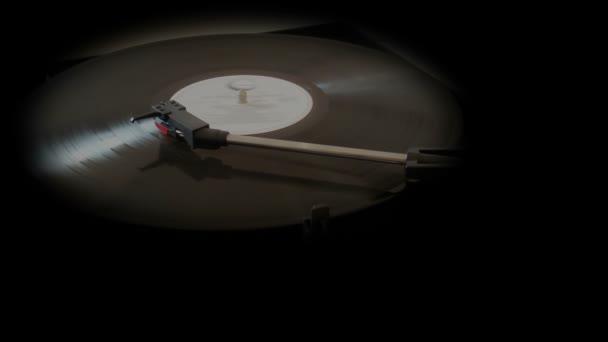 Vintage Vinyl záznam na gramofon gramofonu, kopie prostor