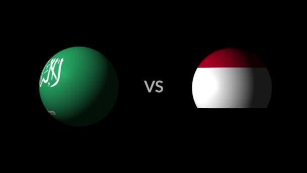 Soccer competition, national teams Saudi Arabia vs Egypt