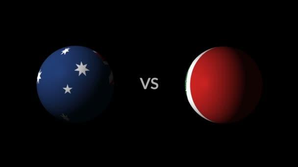 Soccer competition, national teams Australia vs Peru