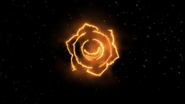 Swadhishtana sakrální čakra Symbol tvořící of Fire, jeden z sedmi čaker, skvělý design