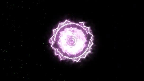Crown Sahasrara Mandala Chakra Symbol tvořící z ohně, jeden z sedmi čaker, skvělý design