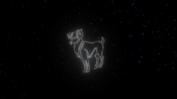 Zodiac sign Aries and beautiful background for presentations, video intro,  horoscope, films, transition, titles and much more