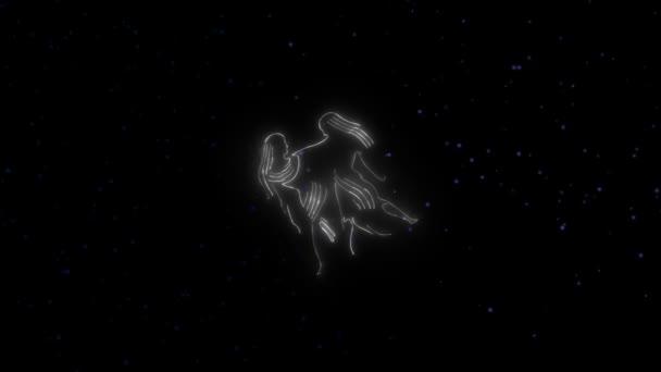 Znamení zvěrokruhu Blíženci a krásné zázemí pro prezentace, video intro, horoskop, filmy, přechod, tituly a mnoho dalšího