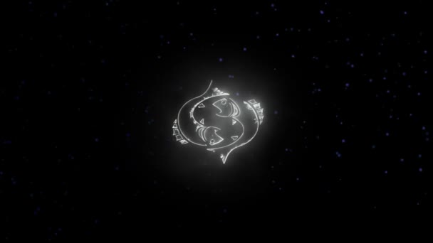 Znamení zvěrokruhu ryby a krásné zázemí pro prezentace, video intro, horoskop, filmy, přechod, tituly a mnoho dalšího