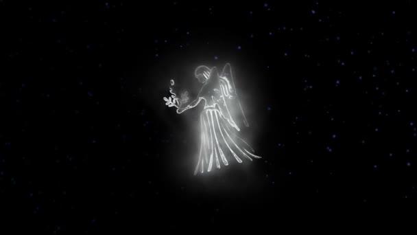 Znamení zvěrokruhu panna a krásné zázemí pro prezentace, video intro, horoskop, filmy, přechod, tituly a mnoho dalšího