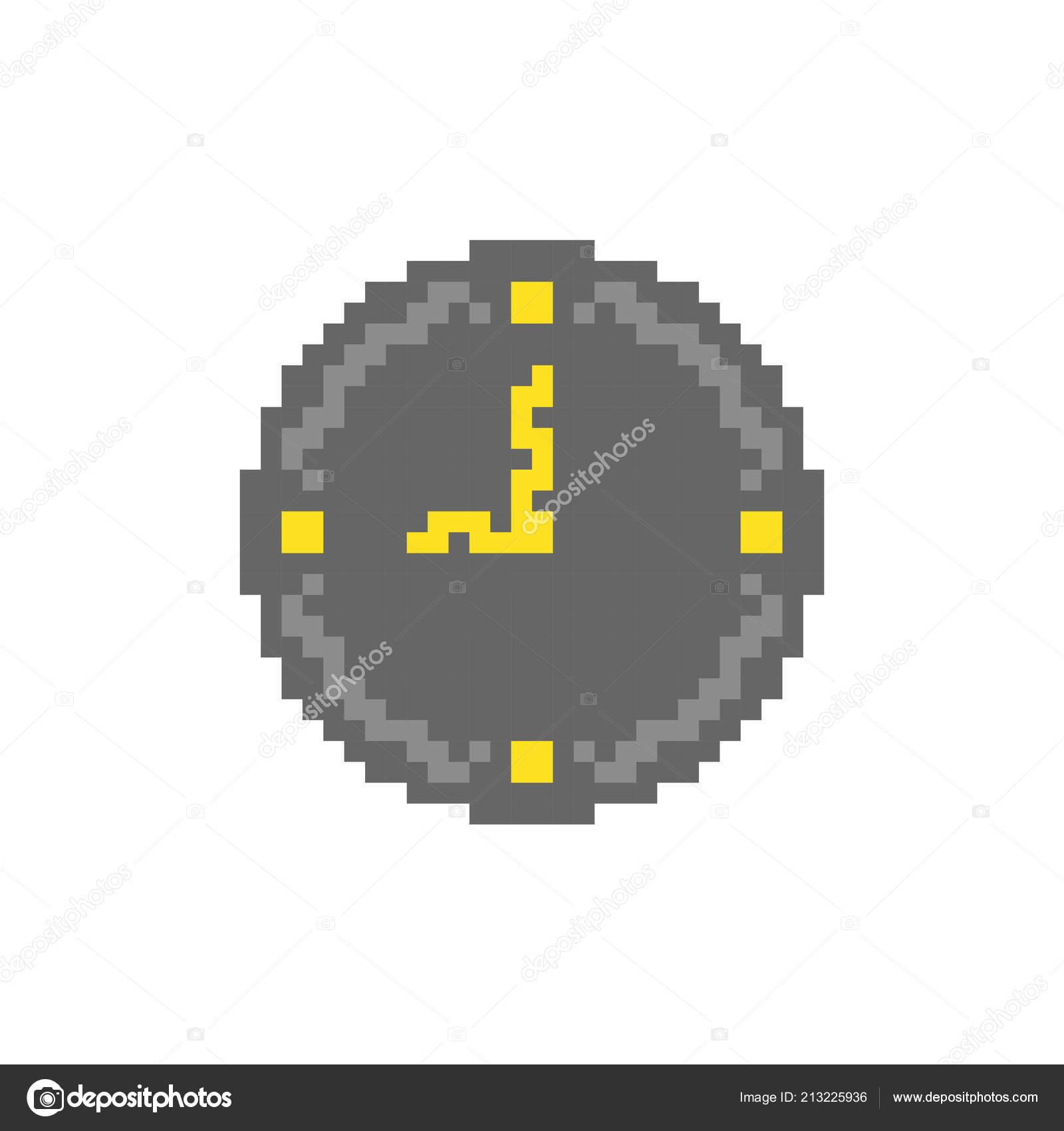 Plano Reloj Icono Imágenes Vectoriales Pixel — Archivo edoWQrCBx
