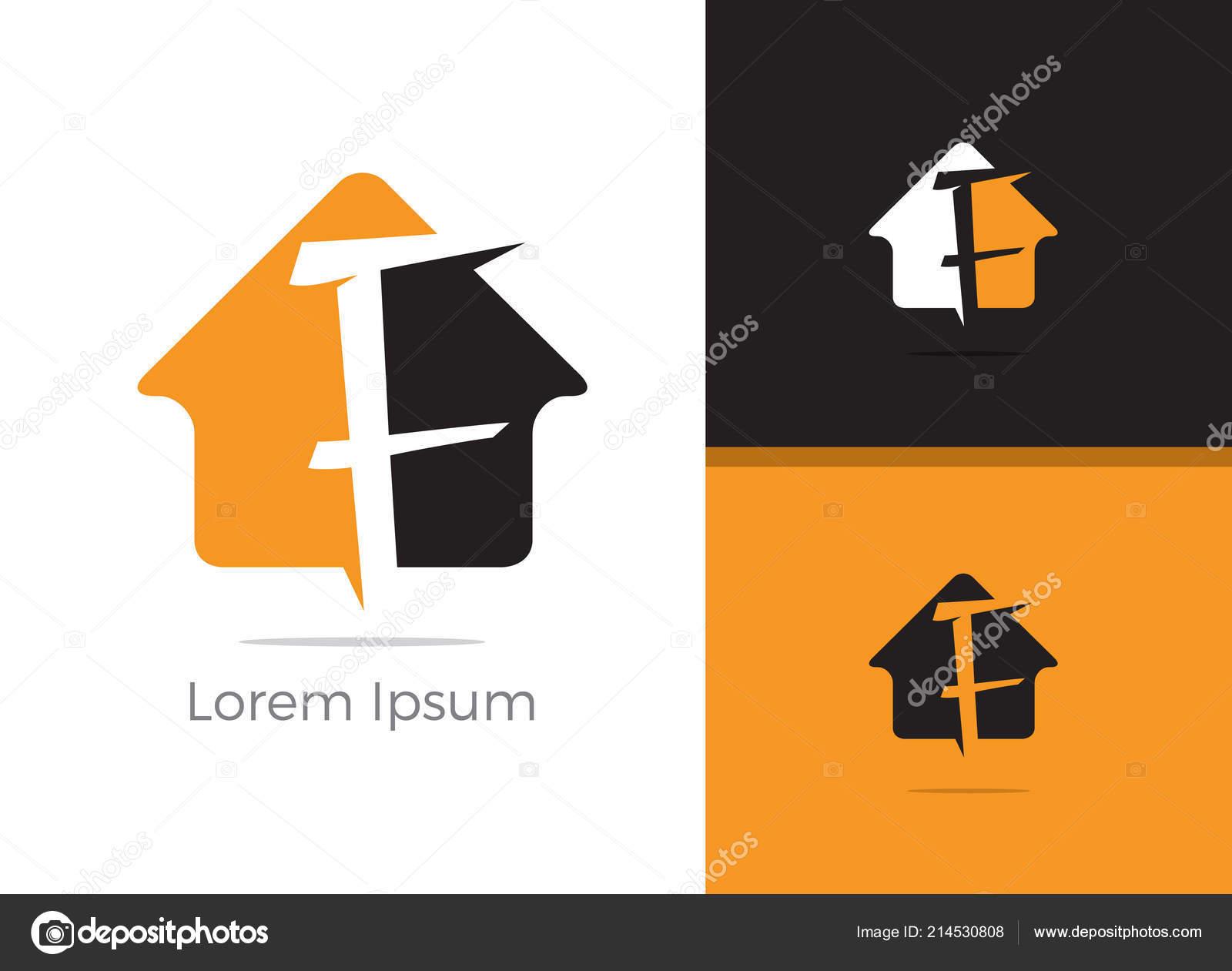 real estate agency letter logo design letter home vector icon