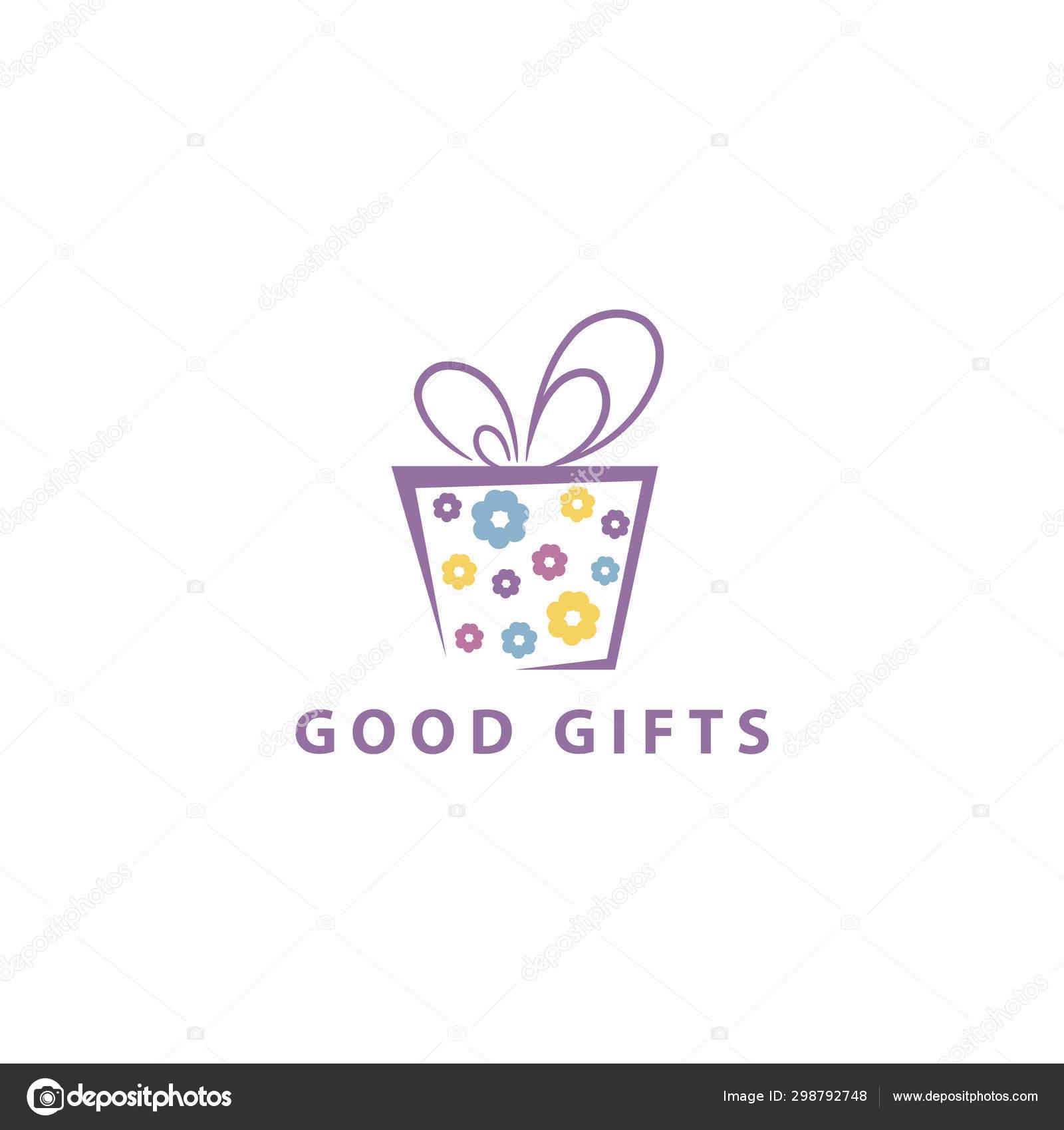 Gift Box Logo Design Blooming Surprise Packaging Box Vector Illustration Stock Vector C Ahsanalvi 298792748