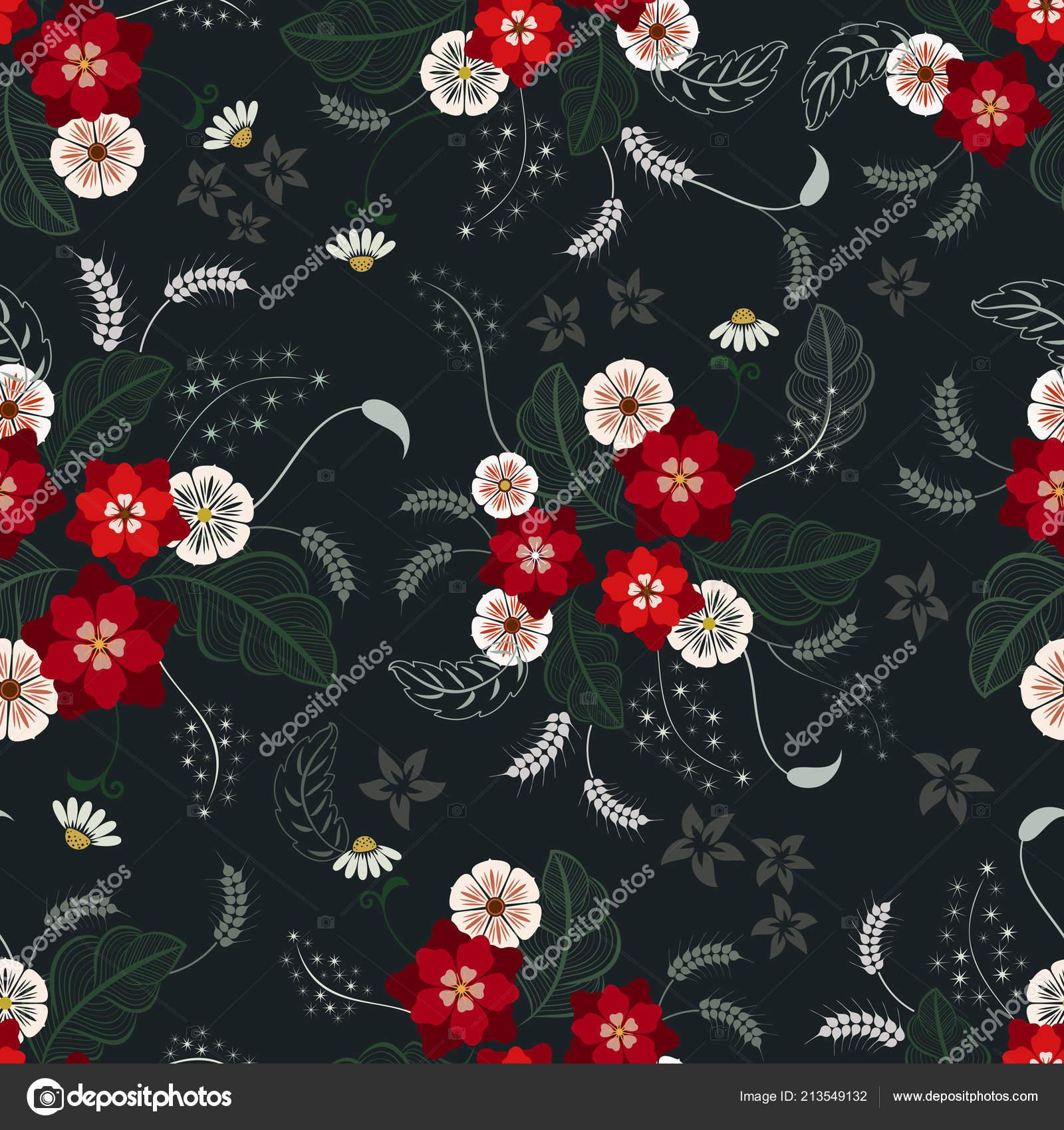 depositphotos 213549132 stock illustration seamless color flower wallpaper pattern