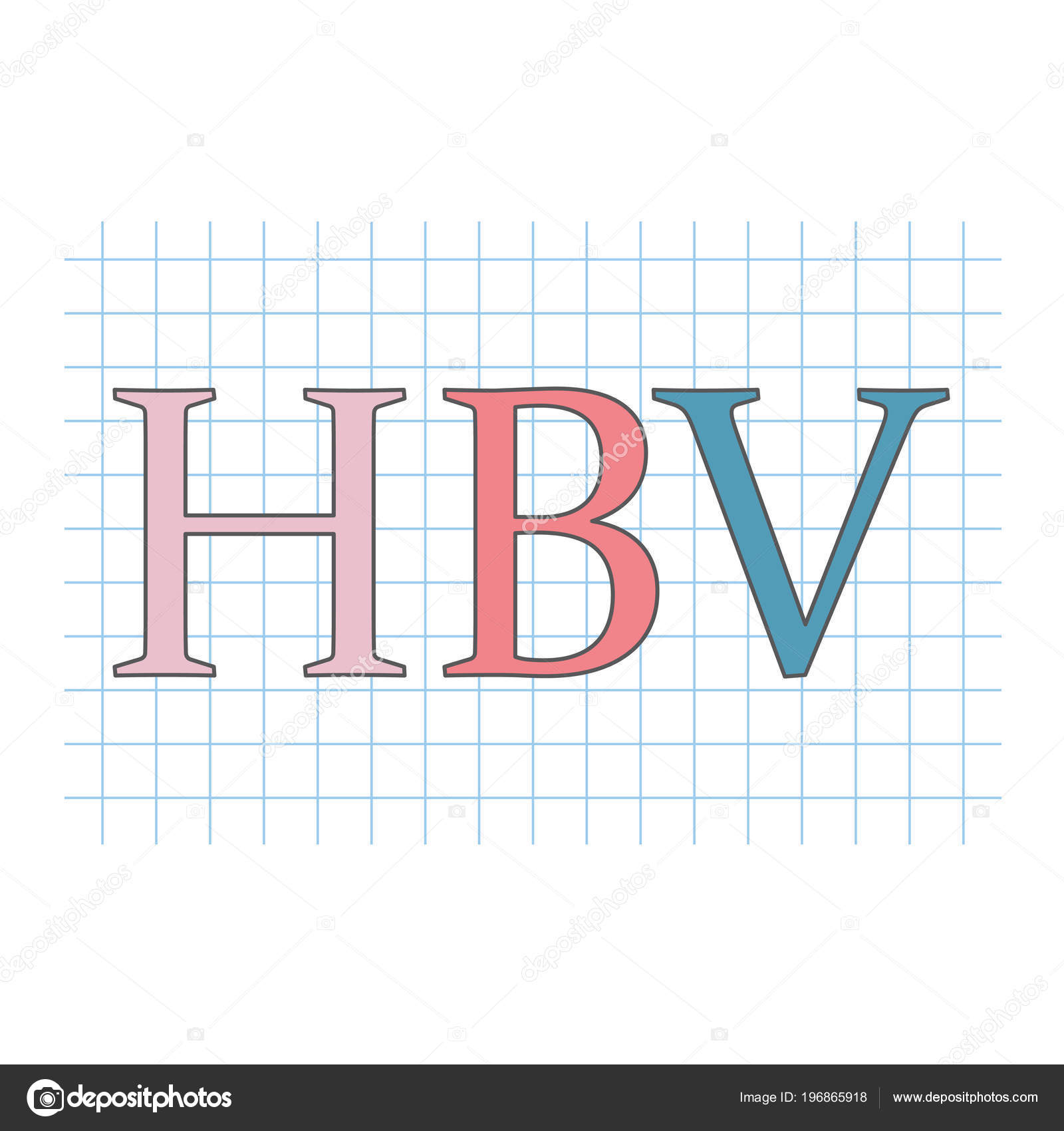 Vhc Virus Hepatitis Escrito Hoja Papel Cuadros Vector — Vector de ...