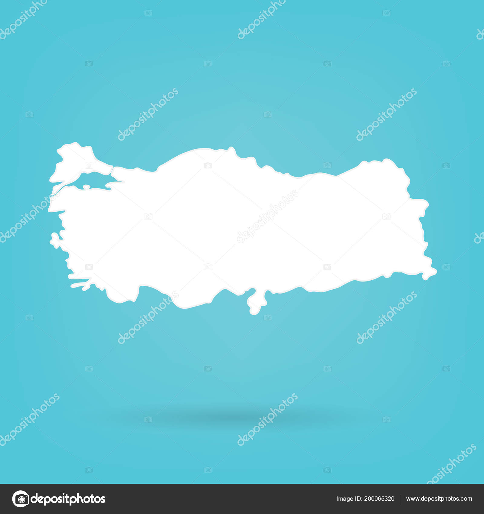 Abstract White Map Turkey Vector Illustration — Stock Vector ...